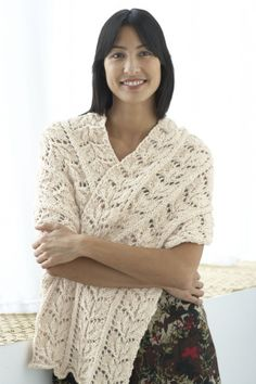 2 knit and 2 crochet shawl patterns to keep your arms, shoulders and chest warm this winter - accessorized with unique wood carved shawl pins. Knit Or Crochet, Lace Knitting, Crochet Shawl, Knit Lace, Shawl Patterns, Knitting Patterns, Crochet Patterns, Lace Scarf, Knit Wrap