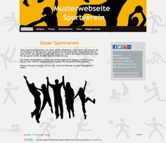 Musterwebsite für einen Verein Webdesign und Webseitengestaltung by moving-it.de