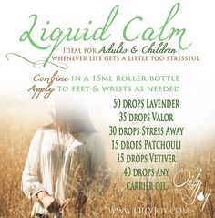 Young Living Essential Oils Liquid CALM Recipe Spray Blend www.youngliving.org/ambermoore #1561016