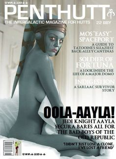 mmathab:    Fake of mine from last year. Somebody used it for a magazine cover design. A friend found it on Facebook today. Poor Aayla :(