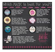 Perfectly Posh masks - find the one you love!