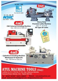 Industrial Machinery ad design by Atul Machine Tools in Industrial Product Finder (click here to advertise)