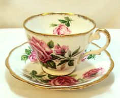 Royal Standard Bone Chine Teacup and by DeesEnchantedCottage