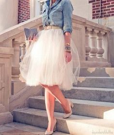 Look sassy and chic with a tutu. You can never be too old for one.