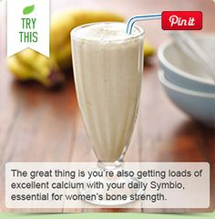 The great thing is you're also getting loads of excellent calcium with your daily Symbio, essential for women's bone strength.