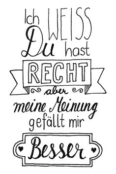 Ich habe neuerdings eine Obsession für Handlettering entwickelt und mir dazu na I have recently developed an obsession for hand lettering and to that well German Quotes, True Words, Art Journaling, Hand Lettering, Quotations, Funny Quotes, Humorous Sayings, Inspirational Quotes, Wisdom