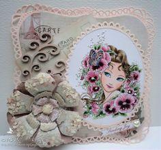 Aurora Wings image on handmade card by Craftin Suzie