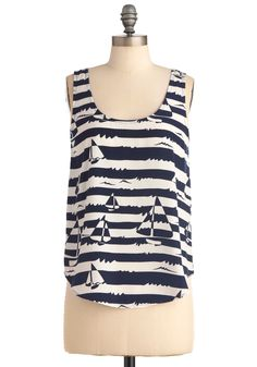 An Open Coloring Book Top - Stripes, Novelty Print, Tank top