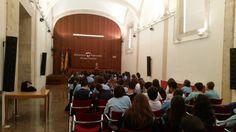 María Ángeles Chavarría en un encuentro de autora de la Biblioteca Valenciana San Miguel de los Reyes