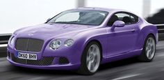 Purple Bentley Continental GT