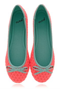 QUBE BRIGHT DUET Coral Ballerinas - SHOES | FLATS | Ballerinas | PRET-A-BEAUTE.COM