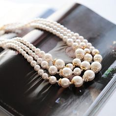 """""""Elegant Series""""  Noble Pearl Layered Necklace"""