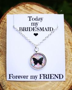 A personal favourite from my Etsy shop https://www.etsy.com/uk/listing/525978301/bridesmaid-gift-necklace-vintage