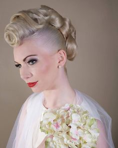 Another angle of first choice wedding hair