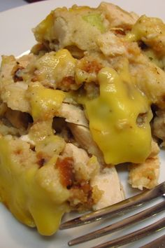 Crock Pot Chicken, Gravy and Stuffing