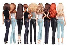 Barbie as Heidi Klum a ružový kabátik, minišaty Barbie I, Barbie World, Barbie And Ken, Barbies Dolls, Barbie Style, Barbies Pics, Malibu Barbie, Barbie Dress, Easy French Twist