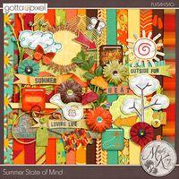 Summer State Of Mind Digital Scrapbook Page Kit. $5.99 at Gotta Pixel. www.gottapixel.net/