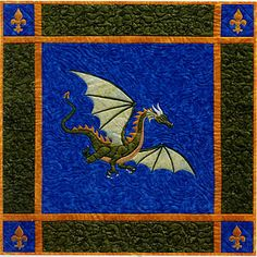 Another dragon quilt pattern!  I've tried to carry all the dragon patterns I can find for my website. Fantasy lovers unite!