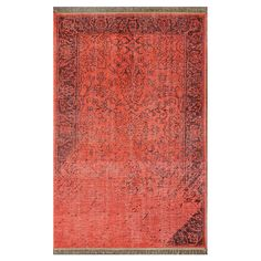Amador Rug in Red - Dipped & Dyed on Joss & Main