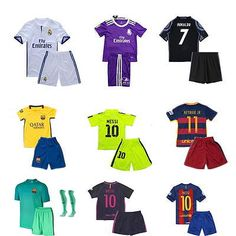 2017 football short #sleeve kid boy #youth+socks #home/away kits soccer for 2-3 y,  View more on the LINK: http://www.zeppy.io/product/gb/2/142241496436/
