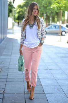 Coral Jeans Top Floral Jacket