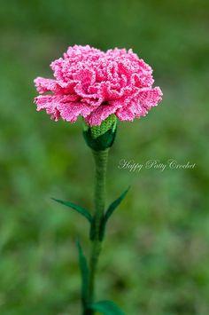 Ravelry: Crochet Carnation Flower Pattern by Happy Patty Crochet: