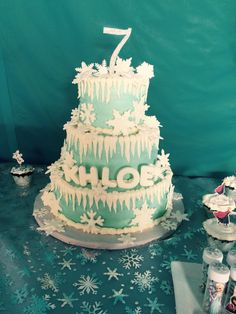 Khloes 7th Birthday Frozen cake
