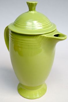 fiesta vintage original charteuse coffee pot rare hard to find fiestaware pottery for sale gift - Fiestaware Sale