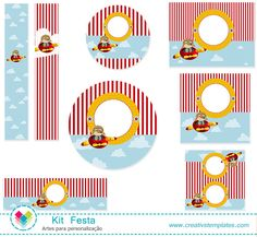 Festa Aviador mod:822 - Infantil Menino | Creativstemplates Planes Party, Airplane Party, Baby Shower, 4th Birthday, Birthday Parties, Cartoon Boy, Vintage Airplanes, Mother's Day Diy, Party Printables