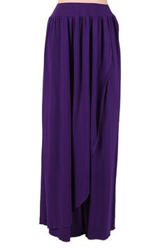 Elladine Maxi Skirt - Dark Purple