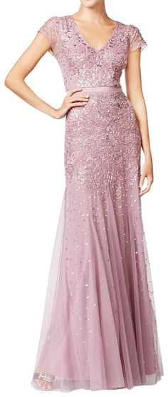 online shopping for Adrianna Papell Women's Dusty Rose Cap Sleeve Beaded Dress from top store. See new offer for Adrianna Papell Women's Dusty Rose Cap Sleeve Beaded Dress Embellished Gown, Beaded Gown, Dusty Rose Gown, Cap Sleeve Gown, Cap Sleeves, Sheath Wedding Gown, Pink Gowns, Long Bridesmaid Dresses, Special Occasion Dresses