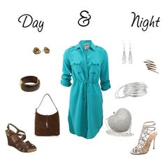 """Day & night"" by molly2222 ❤ liked on Polyvore featuring Haute Hippie, Posh Girl, Sergio Rossi, Allurez, Lauren Ralph Lauren, Yves Saint Laurent, A2 by Aerosoles, Oscar de la Renta and Smashbox"