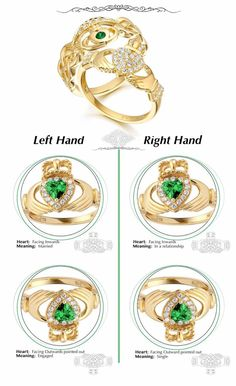 Worlds most beloved and full Irish heritage, Tradition and symbolism. Claddagh Ring is a piece of Irish Jewelry worn for generation to celebrate Irish heritage. The detailed design features two hands holding a heart, attached with a crown and is said to symbolize love, friendship, and loyalty. How Claddagh Ring is worn and meaning behind it depending on the hand and the direction of the heart, the Claddagh Ring often conveys the status of one's relationship.