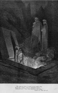 Gustave Dore - Dante's The Divine Comedy, Farinata Gustave Dore, Dante Alighieri, Milton Paradise Lost, Paris, Medieval, Wolf Illustration, Arte Horror, Motorcycle Art, Art Database