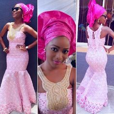 Pretty in pink light and hot pink Nigerian bride wedding flow