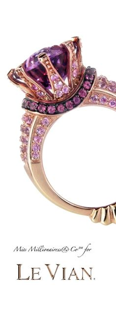 Purple:  Le Vian #Amethyst and Rose Gold Ring - The Empress of Gems™.