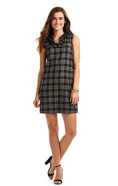 Shop our new Womens's Holiday Tartan Ruffle Dress.