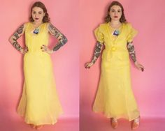 RESERVED 1930s Dress / 30s Dress / 1930s Organdy Organza Gown & Bolero / 30s Evening Gown