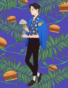 Miss Lumpalinda drawings Baekhyun Fanart, Kpop Fanart, Exo Kokobop, Chanyeol, Exo Anime, Anime Guys, Ko Ko Bop, Exo Lockscreen, Exo Fan Art