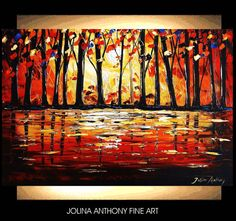 original jolinas one of a kind impasto Forrest by jolinaanthony, $279.00