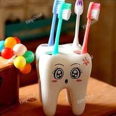 Creative Fashion Tooth Style Toothbrush Holder for Bathroom HLI-221743
