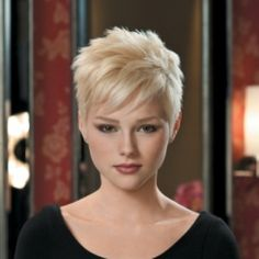 Change it up and go for this on-trend pixie cut. Easy to style, just wash and go!