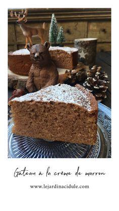 Gâteau ultra moelleux à la crème demarrons - www.lejardinacidule.com