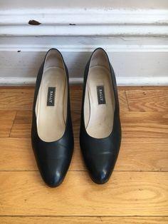 dd5aa7c98a26 Vintage Bally Of Switzerland Dark Brown Black Heels Pumps S 10 M Made In  Italy