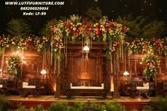 Wedding backdrop garden theme ideas for 2019 Javanese Wedding, Indonesian Wedding, Garden Wedding Decorations, Stage Decorations, Decor Wedding, Diy Wedding, Dream Wedding, Wedding Stage, Wedding Guest Book