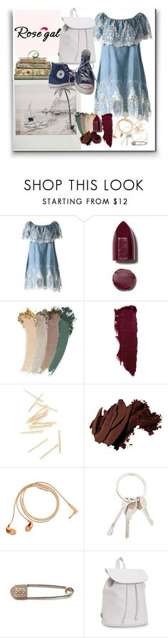 """Sem título #587"" by joananazar ❤ liked on Polyvore featuring NARS Cosmetics, Gucci, Lipstick Queen, Bobbi Brown Cosmetics, Happy Plugs, Givenchy, Aéropostale, Shabby Chic and Converse"