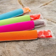 Genius! And just in time for Summer - Kooleez Freezer Pop Holders | Find all the colors at http://www.groopdealz.com