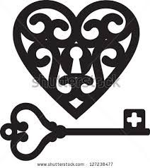 skeleton key and lock clipart