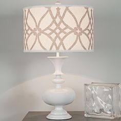 Modern Spindle Table Lamp Base for living room-@Courtney Baker Baker Greene is it tall enough? It comes in yellow, too...