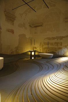 "Kengo Kuma & Associates, ""Water is a powerful sculptor. Stone is a patient matter"", photo Rocco Casaluci"